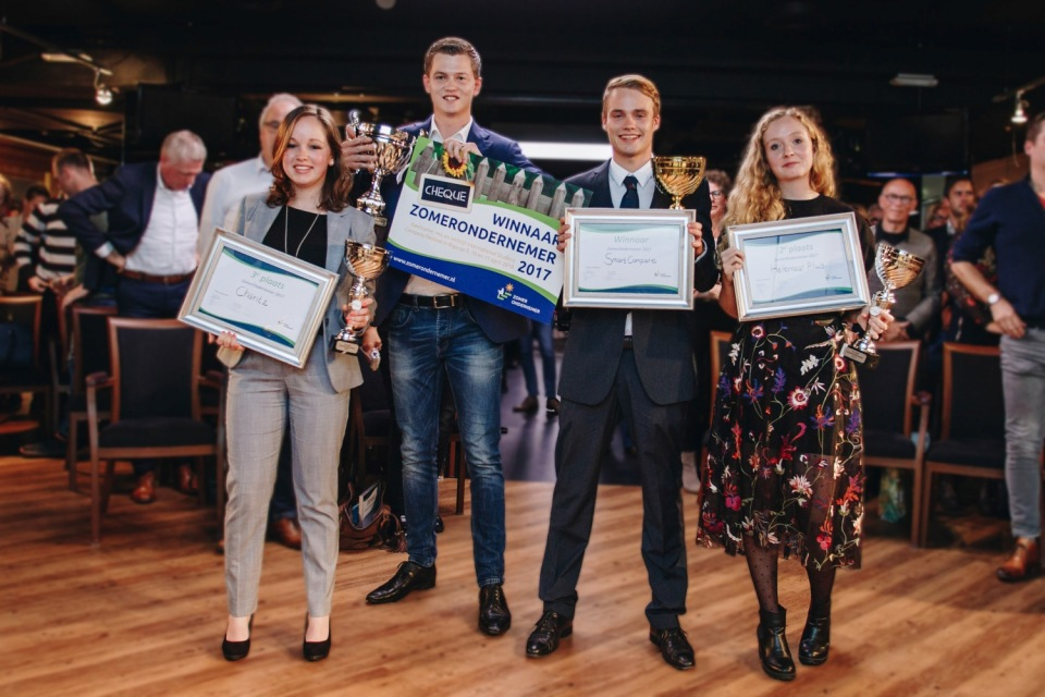 Silvanna, Vincent en Lisette finalisten ZomerOndernemers 2017